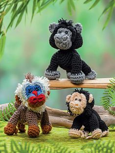 Primates: Crochet a zoo pattern by Megan Kreiner