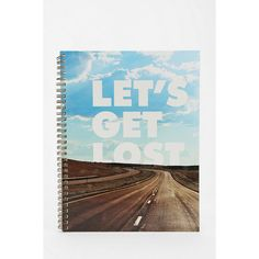 Get Lost Spiral Notebook ($8) ❤ liked on Polyvore