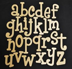 Whimsical wooden letters supply- craft supplies - set of wooden alphabet letters - all lowercase - wood letters- to letter size - Wooden Product Seller Handwriting Alphabet, Hand Lettering Alphabet, Graffiti Alphabet, Graffiti Lettering, Handwriting Worksheets, Handwriting Practice, Monogram Fonts, Monogram Letters, Free Monogram