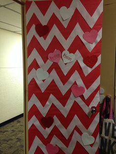 Valentine's Day dorm door decoration