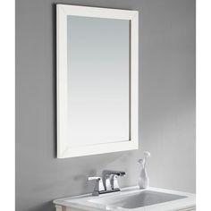 Simpli Home NL-ROSSEAU-M-3A Chelsea 22 x 30 in. Bathroom Vanity Mirror - ROSS/WINWH-M-3A