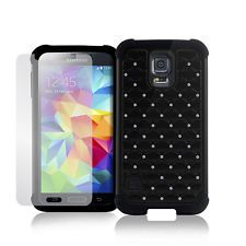 Deluxe Bling Diamond Defender Dual Layer Protective Case Samsung Galaxy S5