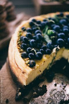 Blueberry cake by Adrian Cotiga