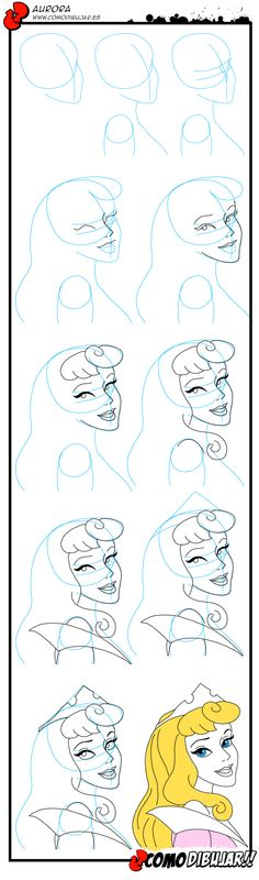 Como dibujar a La Bella Durmiente: http://www.comodibujar.es/aprender-dibujar/disney/princesas/dibujar-a-la-bella-durmiente/