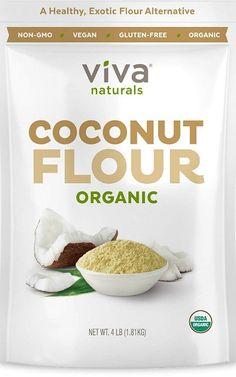 Organic Coconut Flour for Gluten Free Baking, Paleo & Vegan Certified, Unbleached & Unrefined Baking Flour Substitute, 4 lbs kg) - Food Healthy Banana Bread, Banana Bread Recipes, Paleo Recipes Easy, Gourmet Recipes, Gourmet Foods, Snacks Recipes, Free Recipes, Gluten Free Baking, Vegan Gluten Free