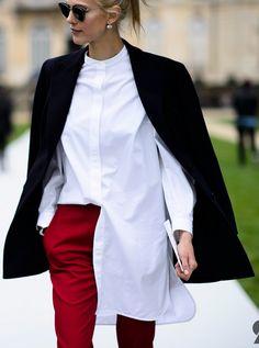 #AymelineValade rocking the perfect half tuck. Paris.