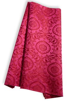 Taj Brocatelle Linen and Silk Blend by Hill Brown; Available to the Trade at Clarence House.