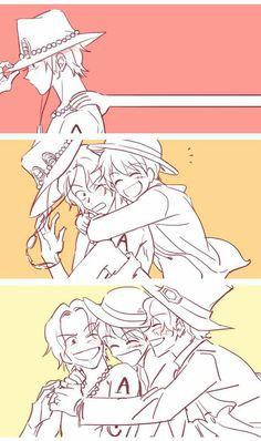 One Piece Comic, One Piece Anime, Ace One Piece, One Piece Fanart, One Piece Luffy, Anime Manga, Anime Guys, Sherlock Poster, Ace Sabo Luffy