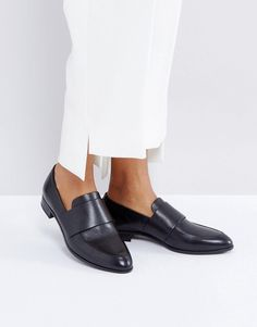 Vagabond Frances Black Polished Leather Loafers - Black Schwarz, Damenschuhe,  Leder, Schwarze Schlupfhalbschuhe ae49b84fa2