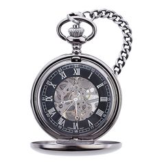 Love it!!  Groom to be gift/birthday/christmas gift      http://weddingshop.theknot.com/gunmetal-mechanical-pocket-watch.aspx?utm_source=KnotShop&utm_medium=email&utm_content=31412&utm_campaign=pd5_gunmetal_pocket_watch&MsdVisit=1