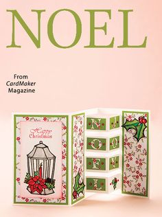 NOEL from the Winter 2016 issue of CardMaker Magazine. Order a digital copy here: https://www.anniescatalog.com/detail.html?prod_id=133852