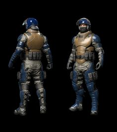 ArtStation - Afterpulse - game character - Riot control, Mauricio Garces