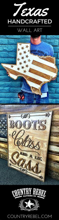 TEXAS Wood Wall Art Exclusively Available @ http://countryrebel.com/collections/home-decor?a=kb&var=Pinterest-001-TexasAmerica