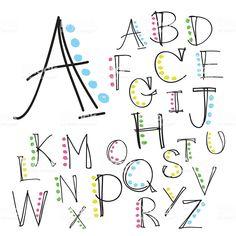 Hand Lettering Alphabet, Doodle Lettering, Lettering Styles, Brush Lettering, Brush Font, Lettering Ideas, Fun Fonts Alphabet, Simple Lettering, Handwriting Fonts Alphabet