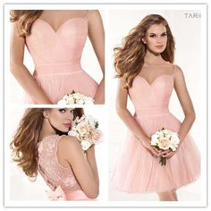 Discount 2014 Beach Wedding Short Junior Bridesmaid Dress, Blush Pink Lace Tulle Short Junior Bridesmaid Dresses with Beaded And Applique Online with $58.63/Piece | DHgate.com