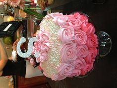 Smash cake.....replace pearls with more roses :) -- Okay, would be WAY too much for a smash cake, but I can dream, can't I?