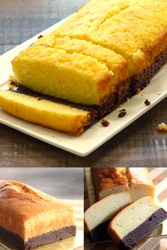 Brownie Butter Cake - thick brownie and rich butter cake combined into one decadent and to-die-for cake! Bake the brownie first and then the butter cake. Homemade Cake Recipes, Pound Cake Recipes, Donut Recipes, Baking Recipes, Fun Easy Recipes, Healthy Dessert Recipes, No Bake Desserts, Delicious Desserts, Chocolate Recipes