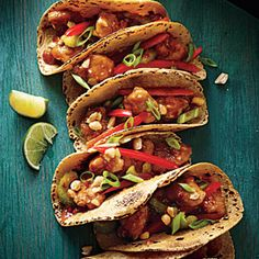 Kung Pao Chicken Tacos Recipe | cooking light. Made these tonight - delish! Reduced the chili sauce to be kid friendly.     Could easily be done without tortillas for regular Kung Pow Chicken.