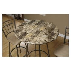 Pub Dining Table Made with Metal and Marble in Dark Cappuccino Finish Bar Stools (Not Included) Dining Area, Dining Table, Home Bar Table, Dining Rooms, Stone Coffee Table, Coffee Tables, Metal Bar, Marble, Home Gifts
