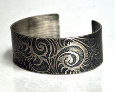by Karla Wheeler Design. Etched bangle