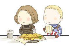 Bucky Barnes, Steve Rogers, Winter Soldier, captain america, seoul.