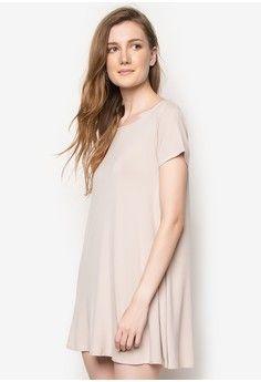 OnDit Clothing beige Abba T-Shirt Dress ON640AA93ZMKPH_1