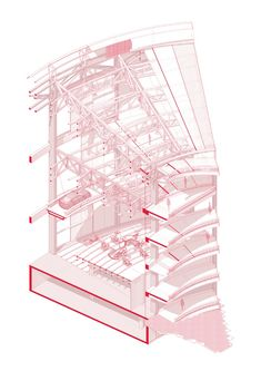 Interesting Find A Career In Architecture Ideas. Admirable Find A Career In Architecture Ideas. Coupes Architecture, Grid Architecture, Architecture Graphics, Architecture Portfolio, Concept Architecture, Architecture Details, Architecture Diagrams, Architecture Sketches, Gothic Architecture