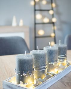 DIY: last minute advent arrangement in silver - simple and noble - arrangement # . - DIY: last minute advent arrangement in silver – simple and noble - Christmas Candle Decorations, Christmas Diy, Christmas Wreaths, Summer Decoration, Decoration Design, Advent Wreath, Diy Wreath, Diy Candles, Pillar Candles