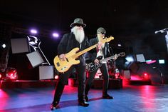 ZZ Top performing at Tropicana Field in 2010