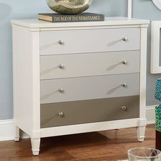 Hammary Hidden Treasures 4 Drawer Ombre Chest - White - 090-591