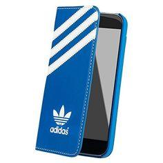 アディダス(adidas originals) iPhoneSE/5/5s カードポケット付 手帳型ケース青白