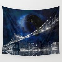 Wall Tapestries featuring New!! New York City by Simone Gatterwe