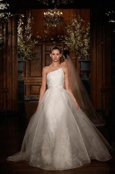 Romona Keveza Millenium | Wedding Dress Trend 2014 - One Shoulder Gowns - Wedding Blog | Ireland's top wedding blog with real weddings, wedding dresses, advice, weddi...