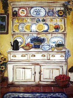 """Suzanne Etienne ~ """"Hutch with Lavender"""""""