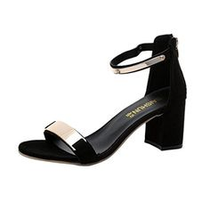 HOT Sale ,AIMTOPPY Summer Sandals Women Summer Sandals Open Toe Women Sandles Thick Heel Shoes Gladiator Shoes Black) ** We do hope you enjoy the image. (This is an affiliate link) Ankle Strap Shoes, Shoes Heels, Strappy Shoes, Wedge Heels, Flats, Gladiator Shoes, Plastic Heels, Womens Summer Shoes, Thick Heels