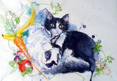 MimiLove, unique animal art, pet portrait commissions