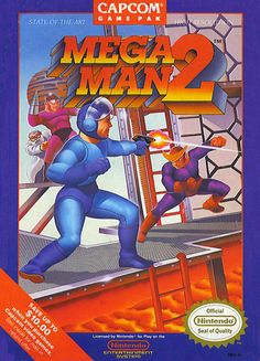 Great games - Mega Man 2 for the NES - I beat it on difficult! (Also, it's not a pistol. IT'S AN ARM CANNON.)
