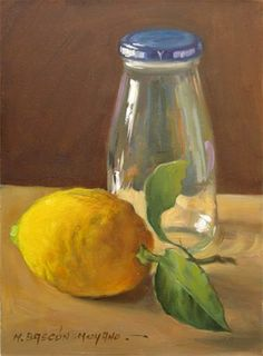 "Daily Paintworks - ""Lemon and Jar (Lemon Series II..."" by Manuel Bascon Moyano"