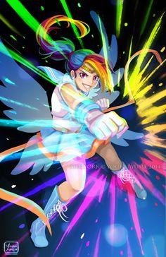 Sailor Rainbow Dash | by YoukaiYume @ DeviantART.com // #mlpfim; my little pony; friendship is magic