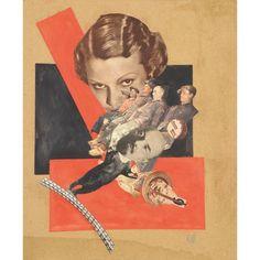 KARL WALDMANN(XXEME SIECLE) - PHOTOMONTAGE, VERS 1945-58 - Aquarelle et collage de [...], Art Impressionniste et Moderne à Tajan | Auction.fr