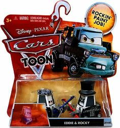"""Disney / Pixar CARS TOON 155 Die Cast Car Eddie Rocky by Mattel Toys. $24.97. CHARACTERS FROM THE NEW CARS TOON """"HEAVY METAL MATER"""". The adventure keeps rolling on! Inspired by the new Cars Toon animated shorts, these character cars let kids play out the fun of the animated adventures! Cars Toon Character Vehicles assortment feature 155 scale diecast cars based on the animated shorts."""