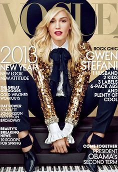 How AMAZING does Gwen Stefani look on the cover of VOGUE?! http://www.eonline.com/news/372280/gwen-stefani-is-stylish-in-saint-laurent-on-vogue-s-january-2013-cover