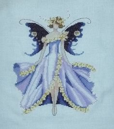 "Completed Cross stitch, Spring Garden Party Collection for Pixie Couture by Nora Corbett ""Cherry Blossom"" NC169"