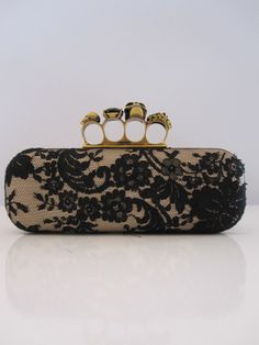 Every girl should carry brass knuckles (disguised as a ring clasp on a purse)-in case the evening goes badly.