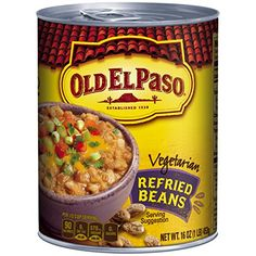 Old El Paso Refried Beans Vegetarian 16 Ounce -- You can find more details by visiting the image link. (Note:Amazon affiliate link)
