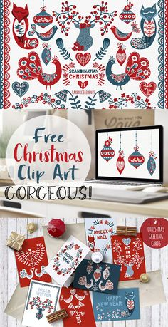 Free Scandinavian Christmas Graphics -Gorgeous! - Free Pretty Things For You