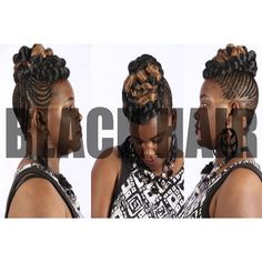 Updo, black hair, African braids