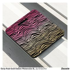 Girly Pink Gold Ombre Watercolor Black Zebra Print Seat Cushion - Stadium & Seat Cushions Gift Idea. Stadium Seat Cushions, Stadium Seats, Logo For School, Zebra Print, Fundraising, Pink And Gold, Girly, Watercolor, Prints