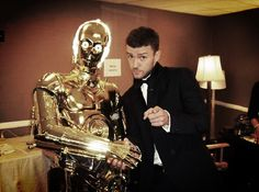 C-3PO & R2-D2 appear at the AMC Samuel L. Jackson Tribute with Justin Timberlake, Beverly Hills, CA