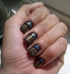 Okay. Nail polish isn't usually my thing. But Dalek nails? I'll make an exception!